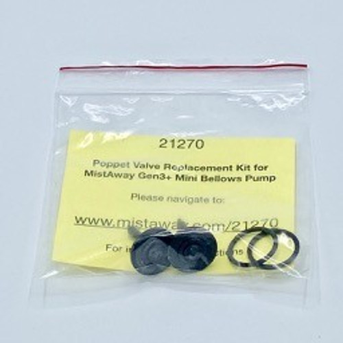 Gen 3 - Poppet Valve Replacement Kit for Bellows Pump