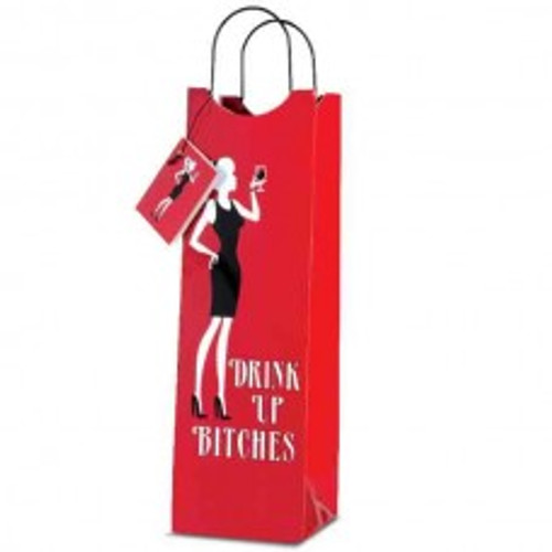 """""""Drink Up Bitches""""  Wine Bag"""