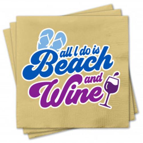 """""""Beach & Wine"""" Napkins"""