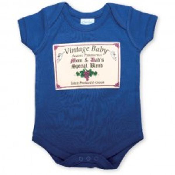 Vintage Baby - Blue Romper