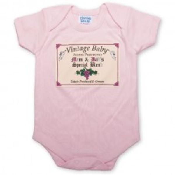 Vintage Baby - Pink Romper