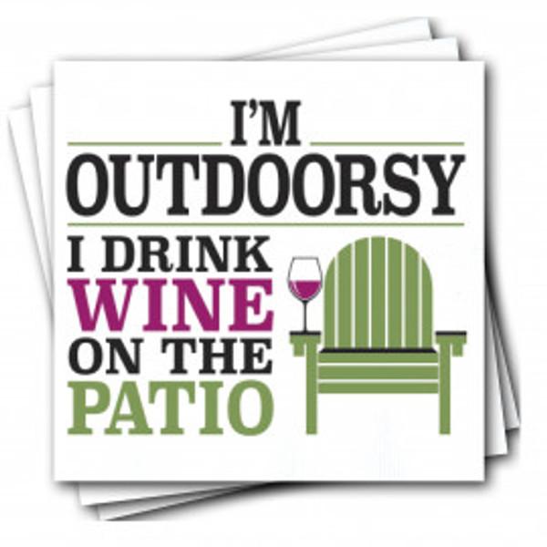 """Outdoorsy"" Napkins"