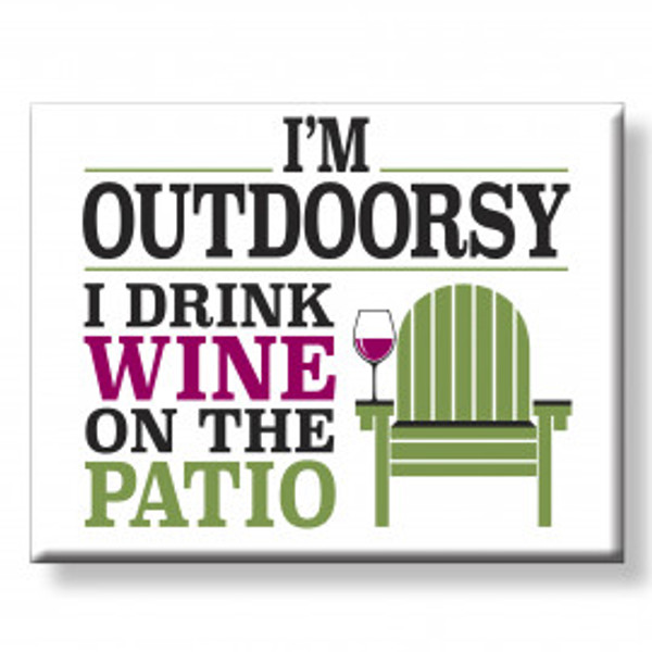 """Outdoorsy"" Magnet"