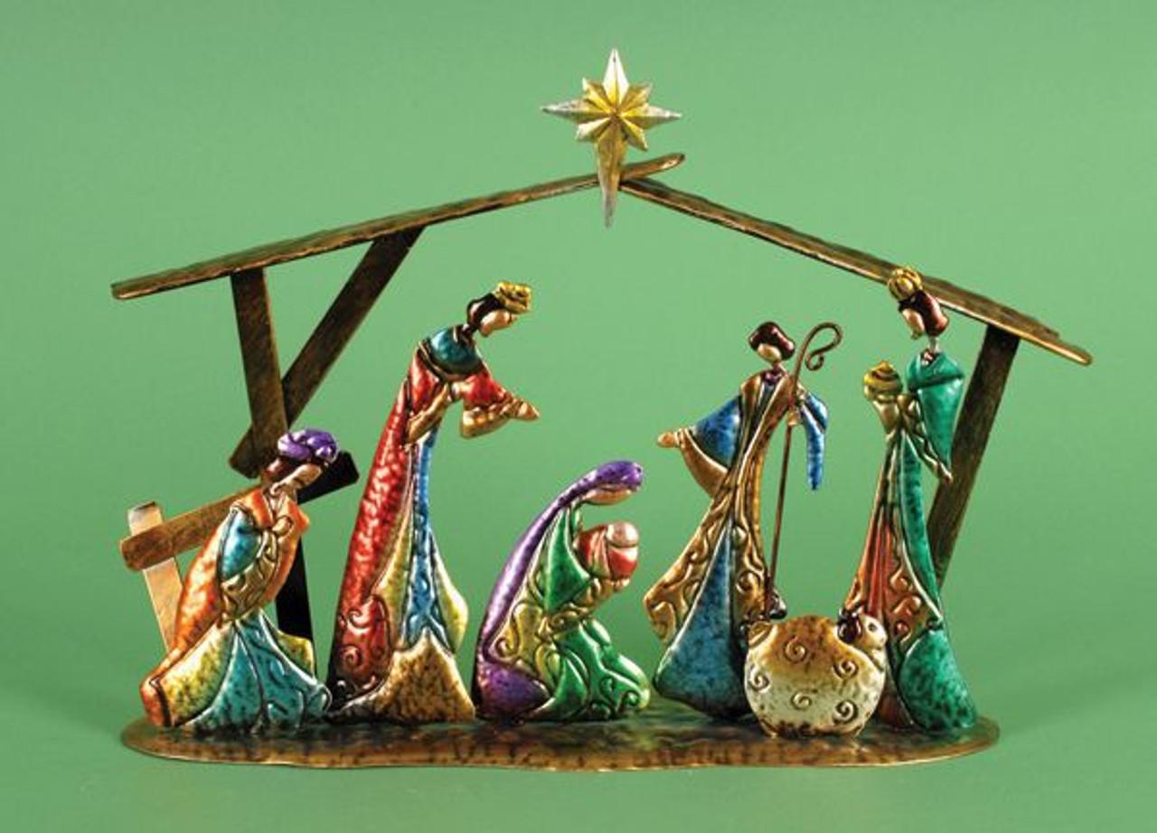 Contemporary Nativity Set Metal 15 1 2 X 4 1 4 X 12 1 2 Lri307207