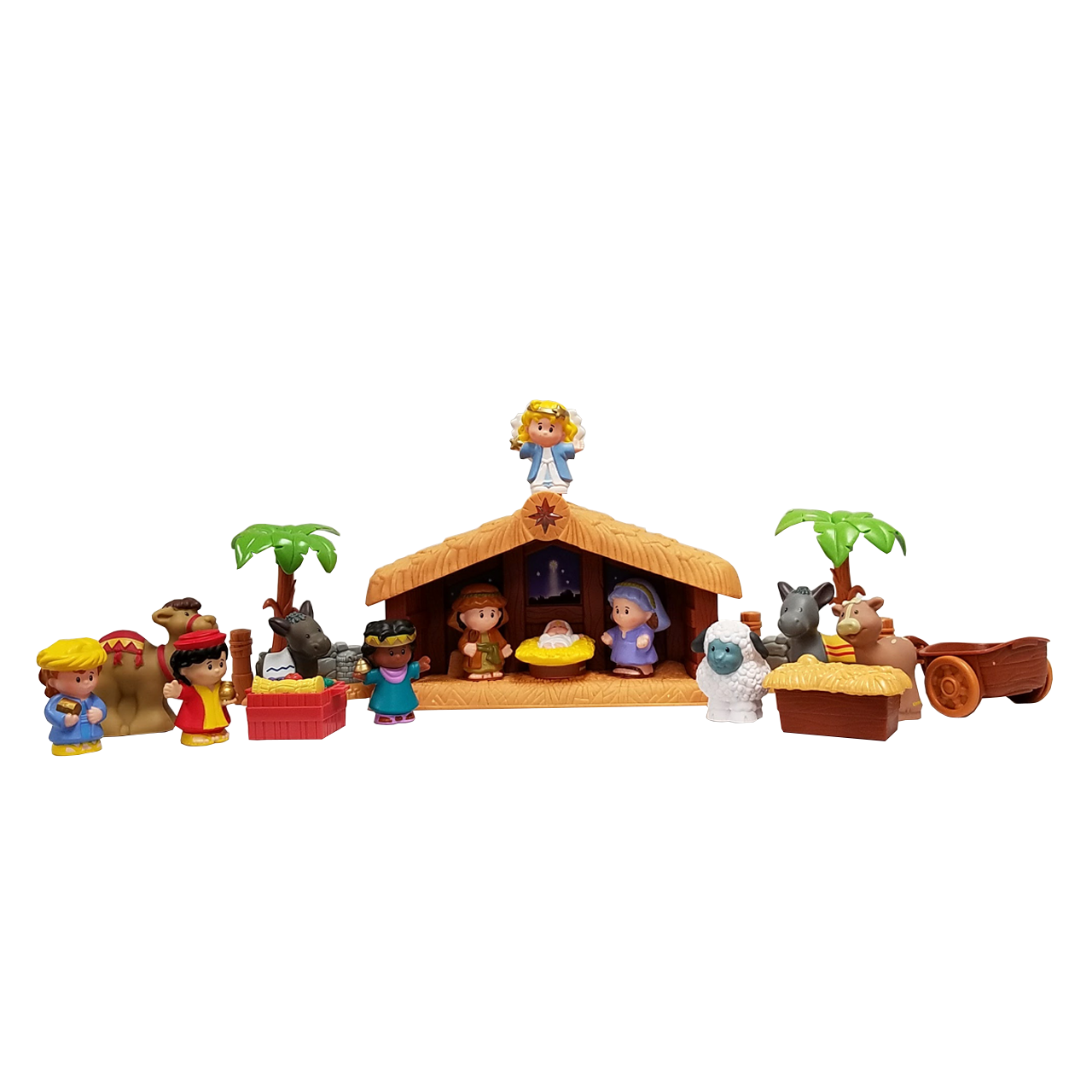 new arrival 694fe 9ee42 18 Piece Children's Nativity Set | Fisher Price Little People Set | Stable  Included | SPRNAT