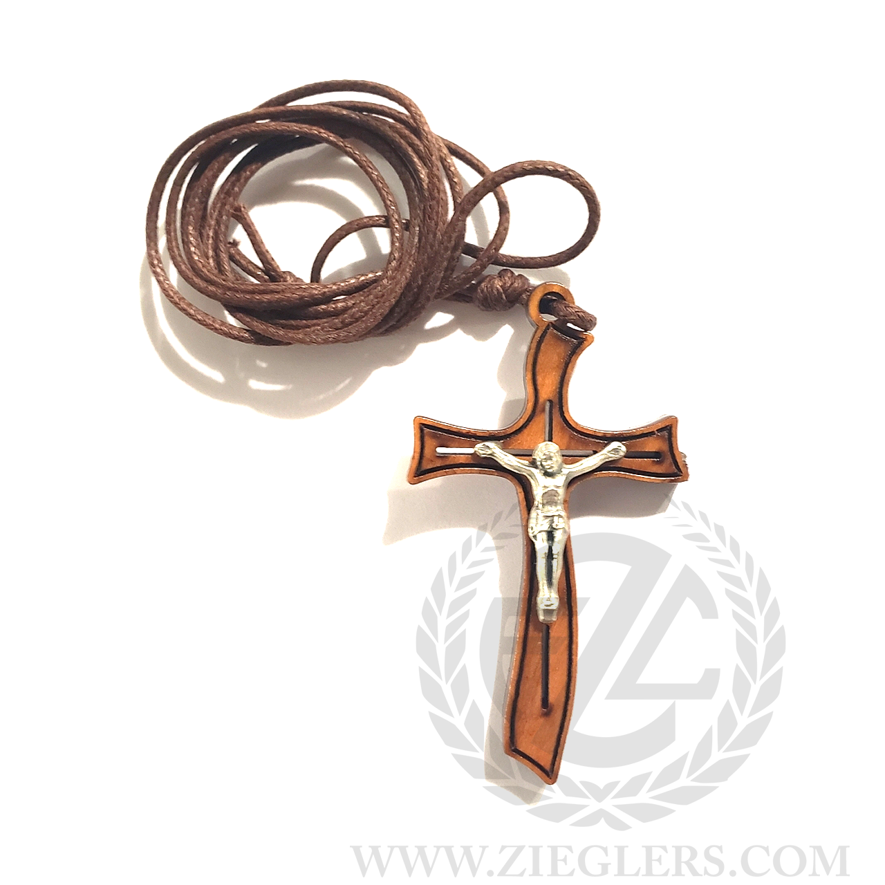 Crucifix Pendant Necklace | Metal Corpus | Contemporary Cross | Cord |  Italy | CC231