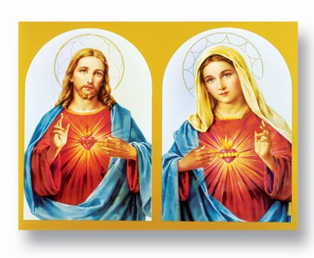 Sacred Heart of Jesus and Immaculate heart of mary poster measures 19 by 27 inches 192 191  53631.1553880637