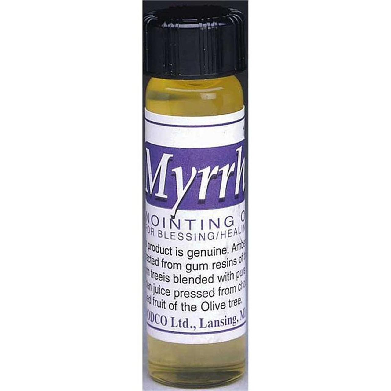 Myrrh Anointing Oil | Blessing & Healing | 1/2 Oz  | Glass Vial | 034960