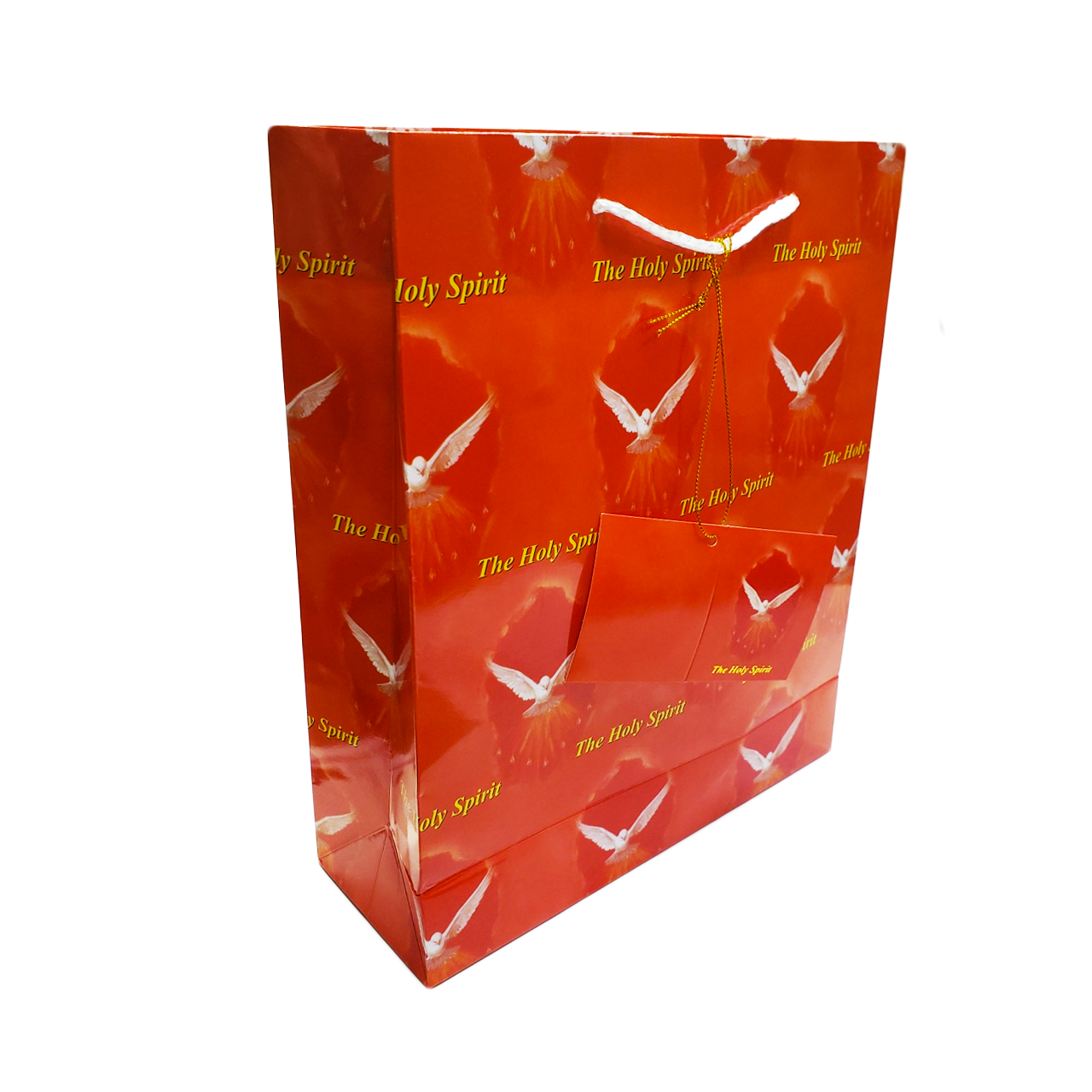Confirmation Gift Bag with the Holy Spirit Dove in Red size Medium style RI118020