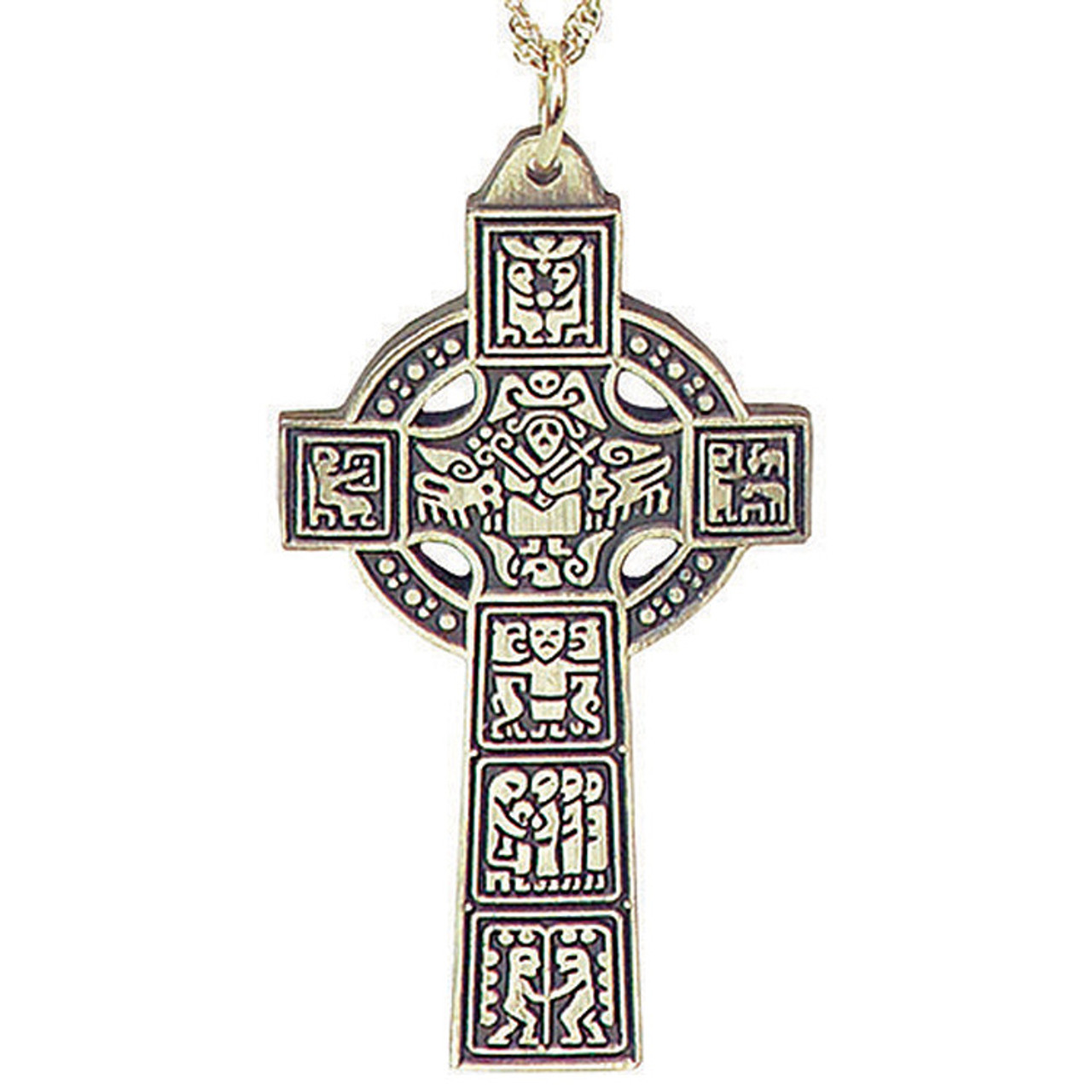 14682342047 Pectoral Celtic Cross in Pewter - Style TS1664P - F.C. Ziegler Company