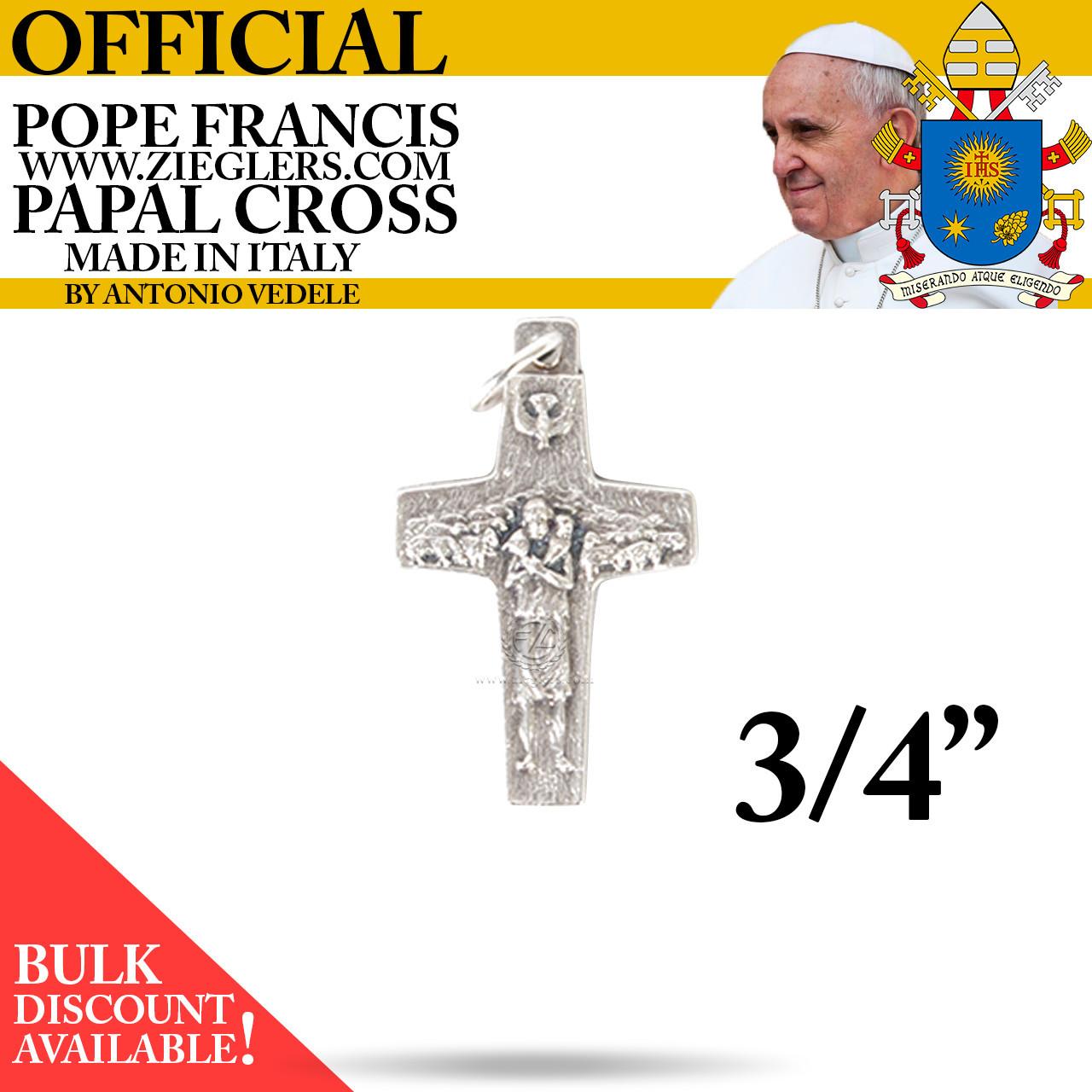 Papal Crucifix | Pendant | Pope Francis | 3/4