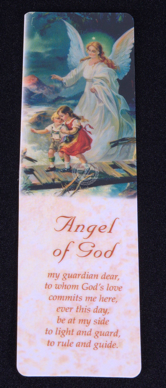 Angel of God Bookmark   Laminated   Prayer   5