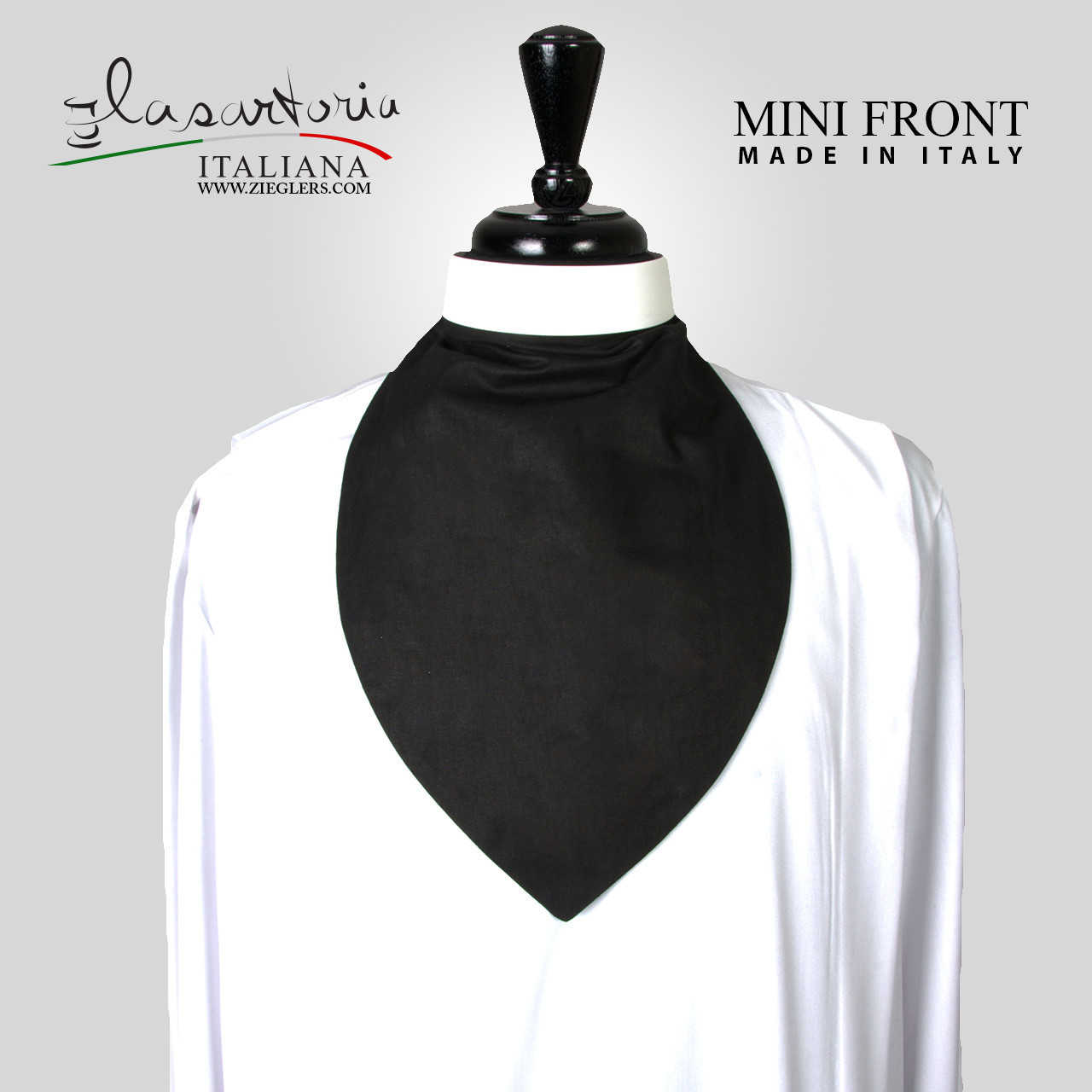 Clergy Mini Shirt Front Rabat Cotton Blend Made In Italy