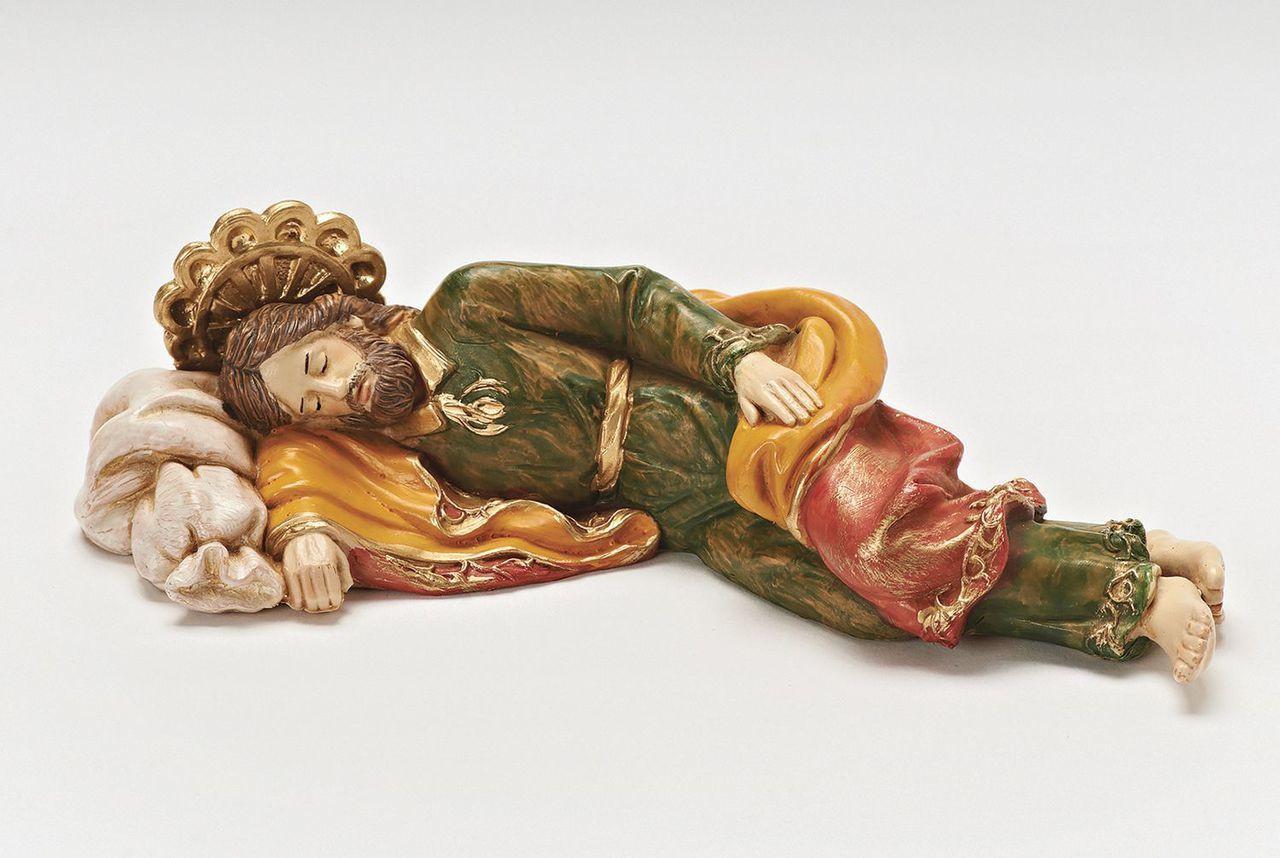 Sleeping Catholic Saint Joseph Resin Statue Figure 6 Inch