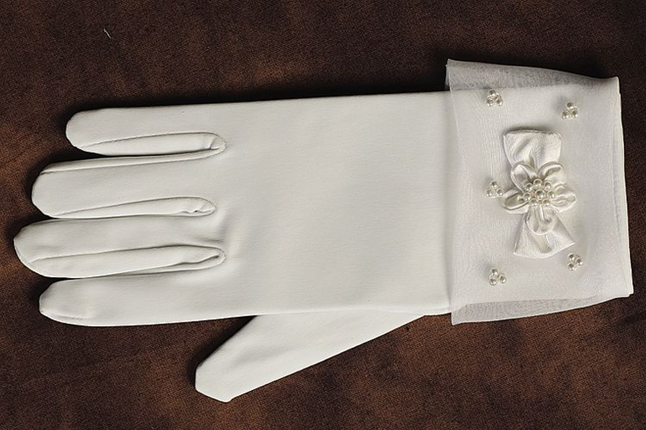 5d91b4c6c82f DISCONTINUED 2019 - Gloves | First Communion | Cuffs with Pearls