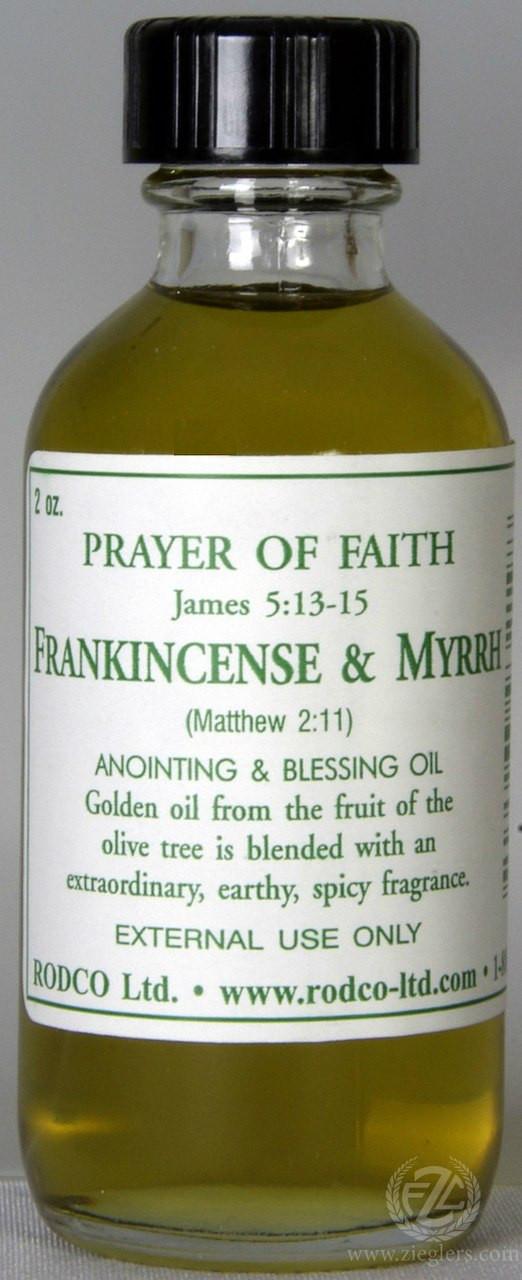 Frankincense & Myrhh | Anointing & Blessing Oil | 2 Oz  | Glass Bottle |  932198