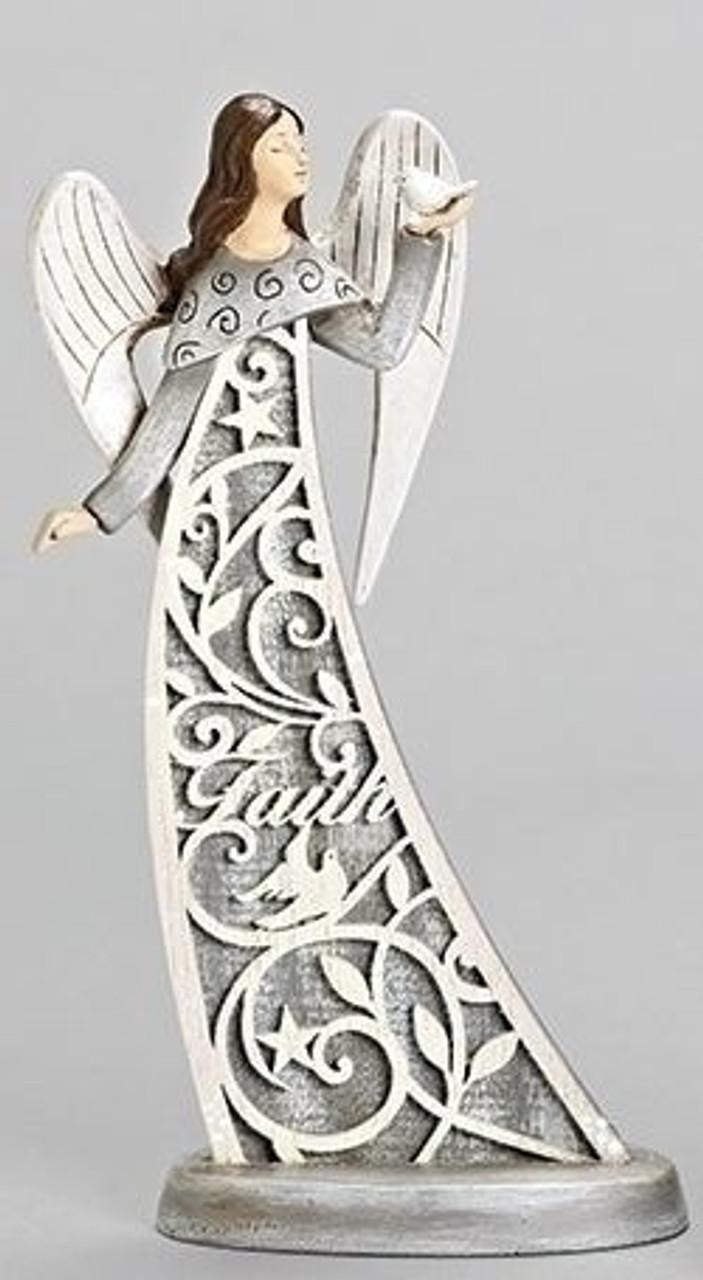 Faith Angel Figurine | Christmas | Laser Cut Design | 11