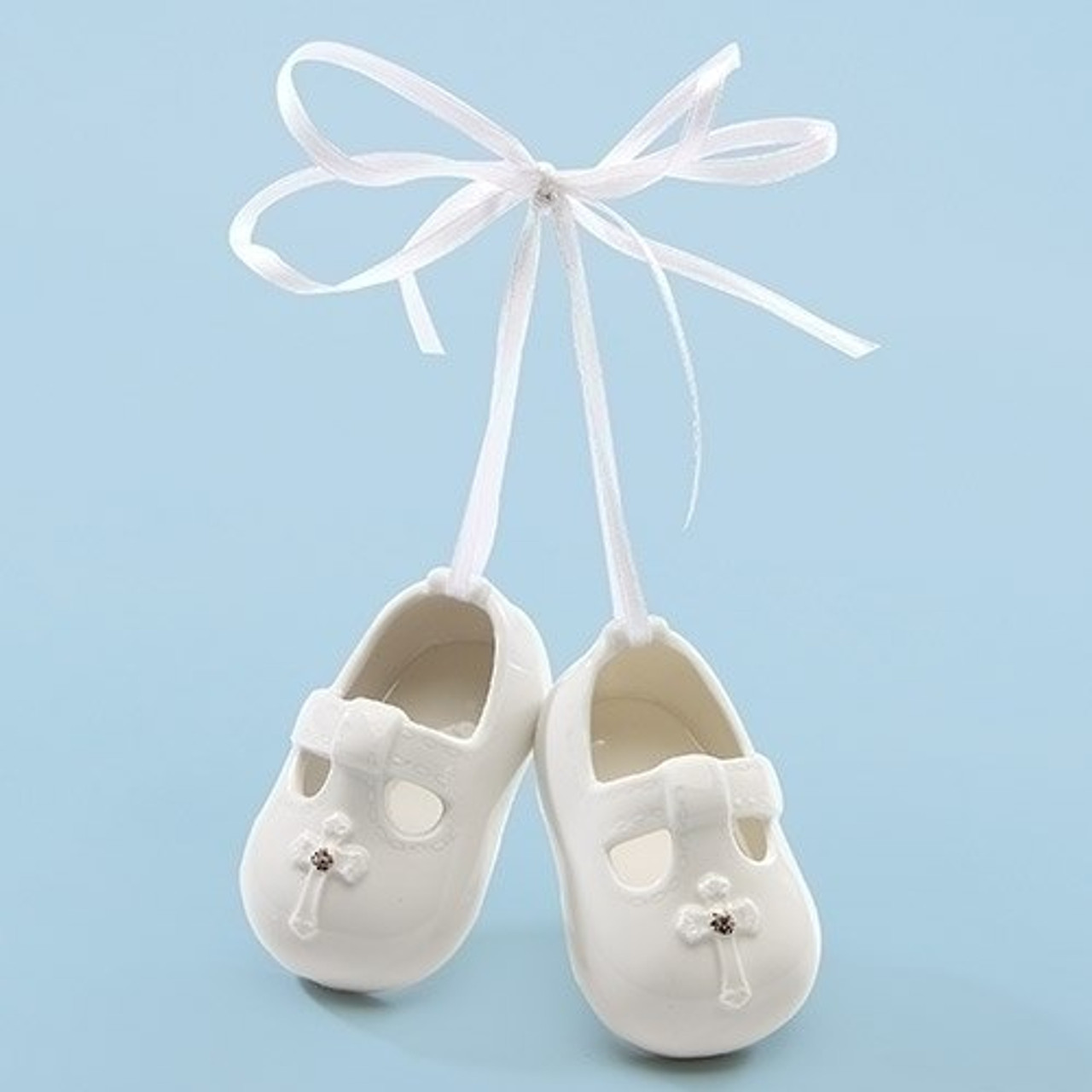 5a9fc2f1823ed Baby Shoes | Ornament | White | Cross | 1-1/2