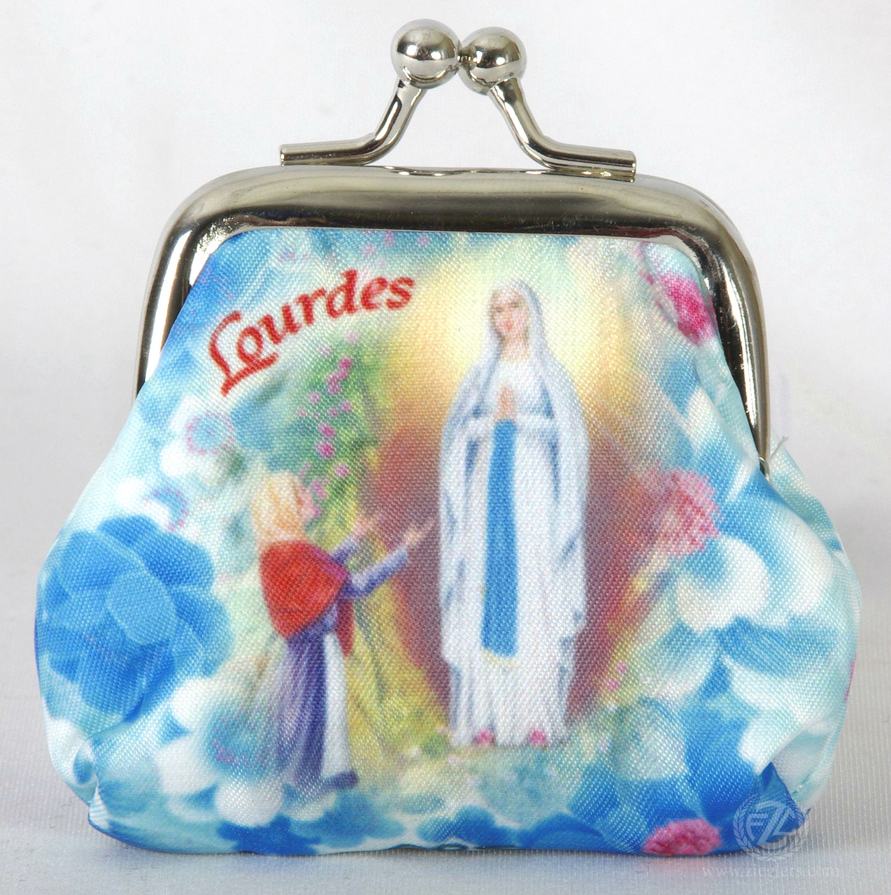 Rosary Pouch Our Lady of Lourdes Marian Blue Bead Rosary FAR1071M35