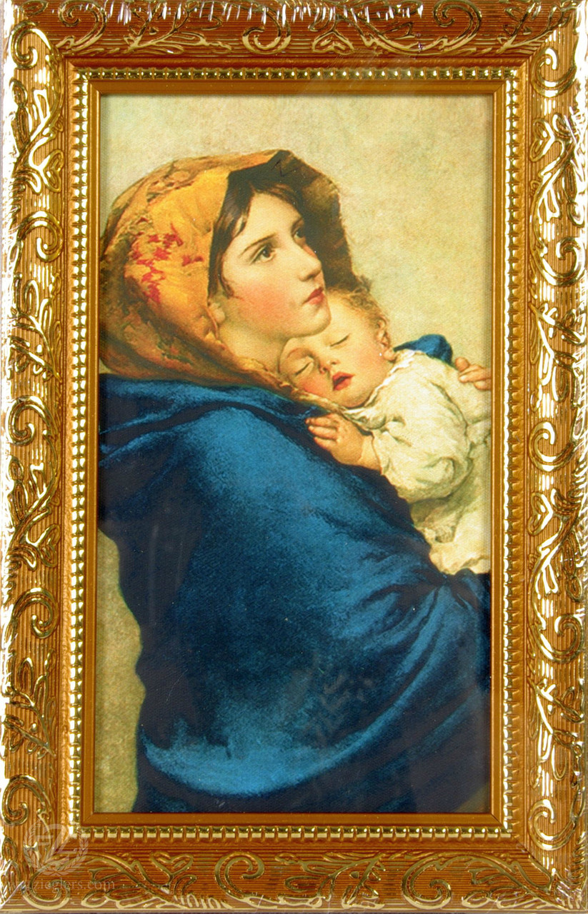 Framed Art Madonna Of The Street Gold Frame 6 14 X 9 34