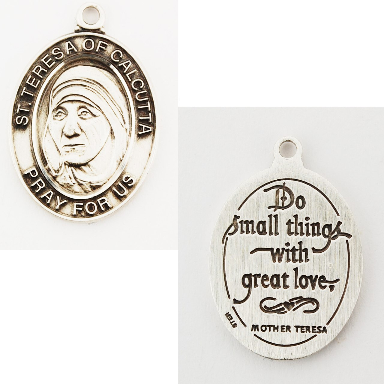24 Chain Sterling Silver St Theresa Pendant