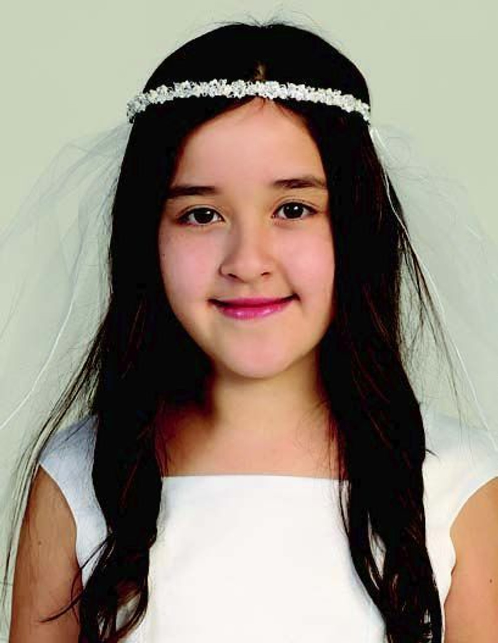 Communion Veil UK made White sparkle or matt tulle Complies with EU  childswear flammability laws.