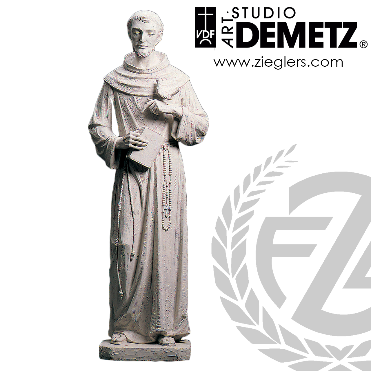 Saint Francis Of Assisi Statue 3 Sizes Linden Wood Or Fiberglass 3901 Crafted In Italy