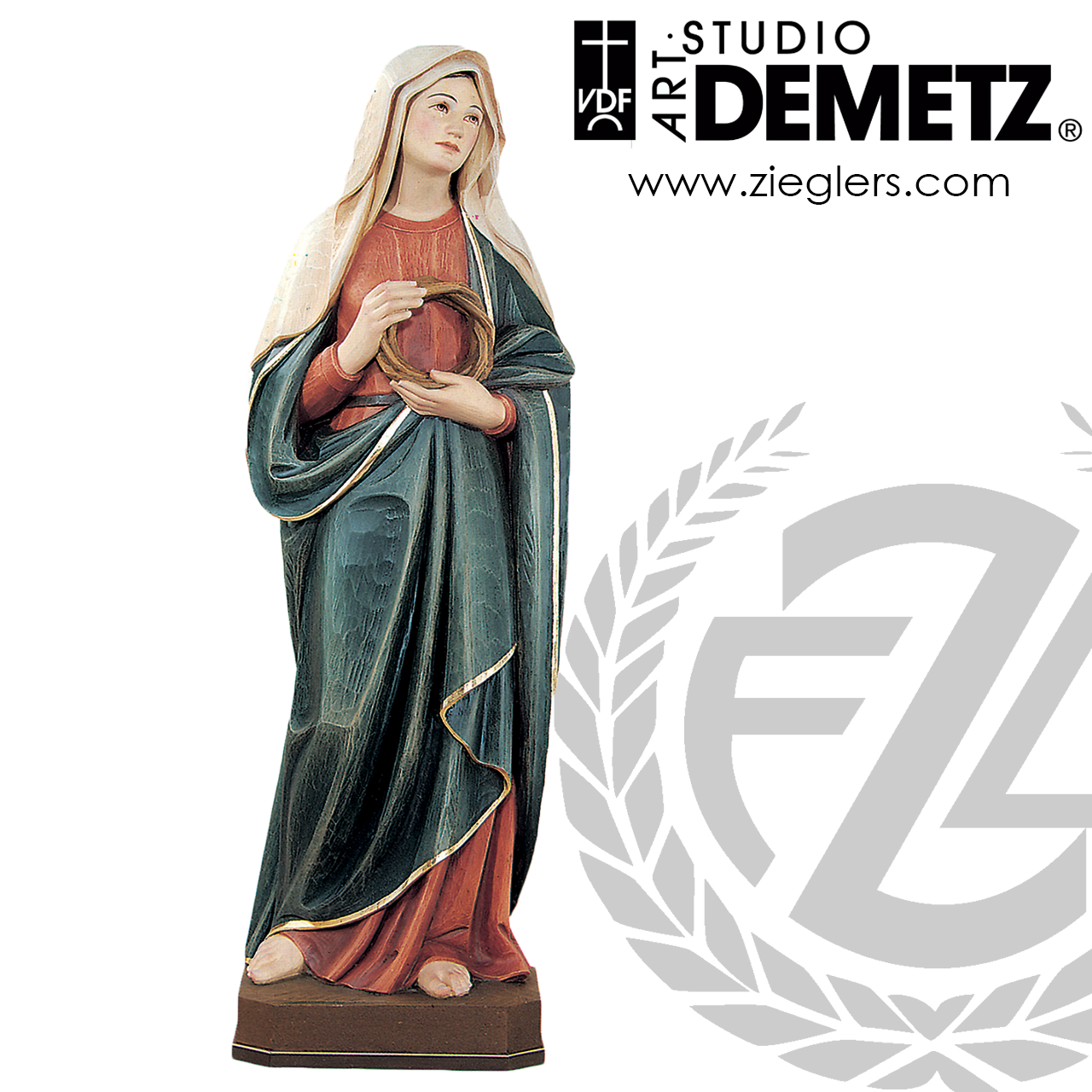 2-inch Height Roman Our Lady of Guadalupe Visor Clip