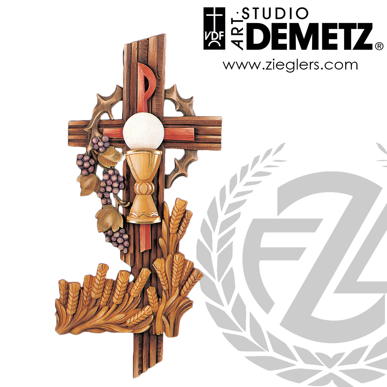 Eucharist Symbol Cross 4 Sizes Linden Wood Or Fiberglass 96029 Crafted In Italy F C Ziegler Company