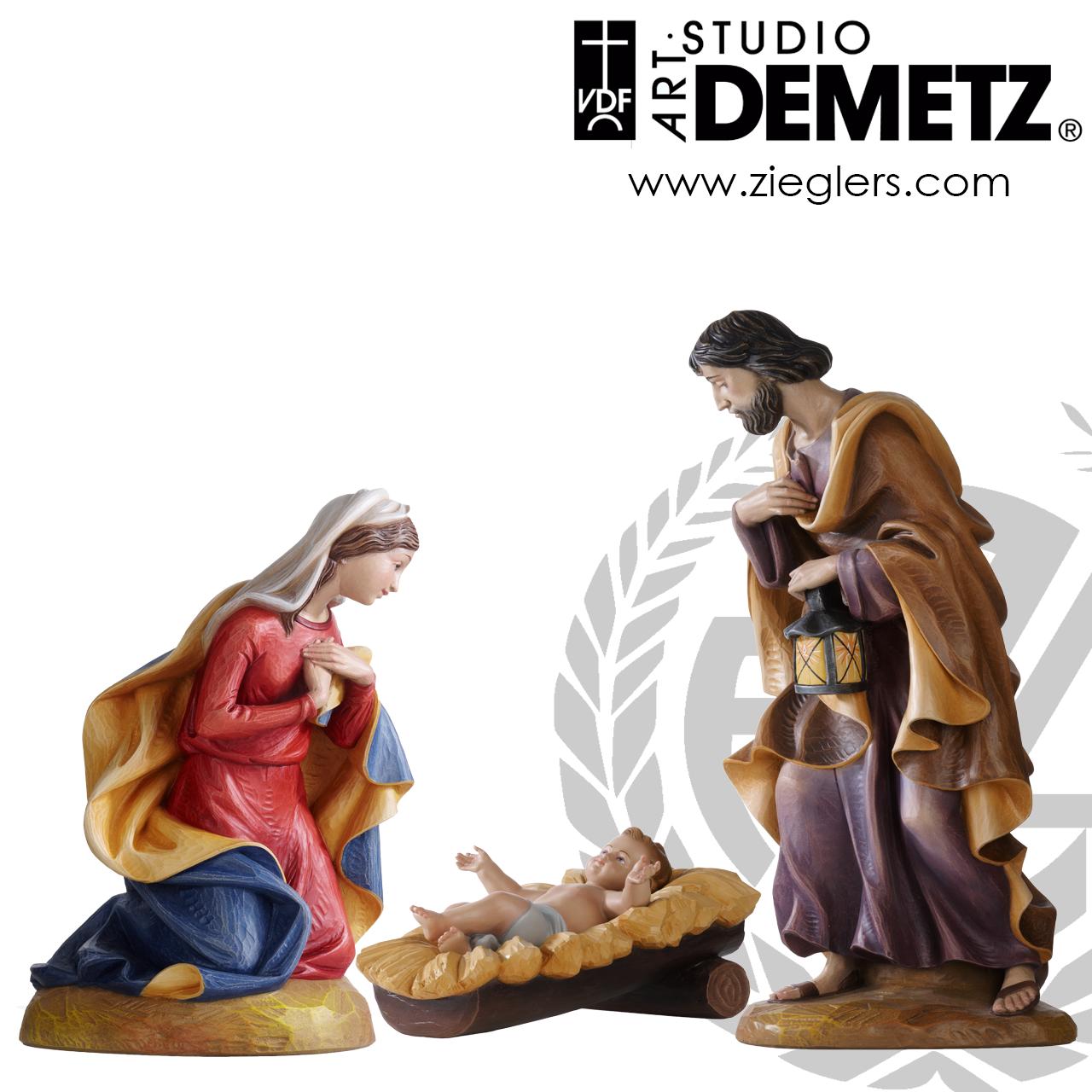 Holy Family Nativity Fiberglass 3 Piece Style 1950