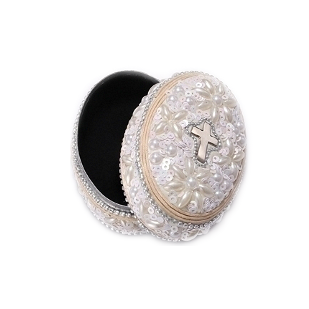 Rosary Case   Keepsake Box   Simulate Pearls & Sequins   3