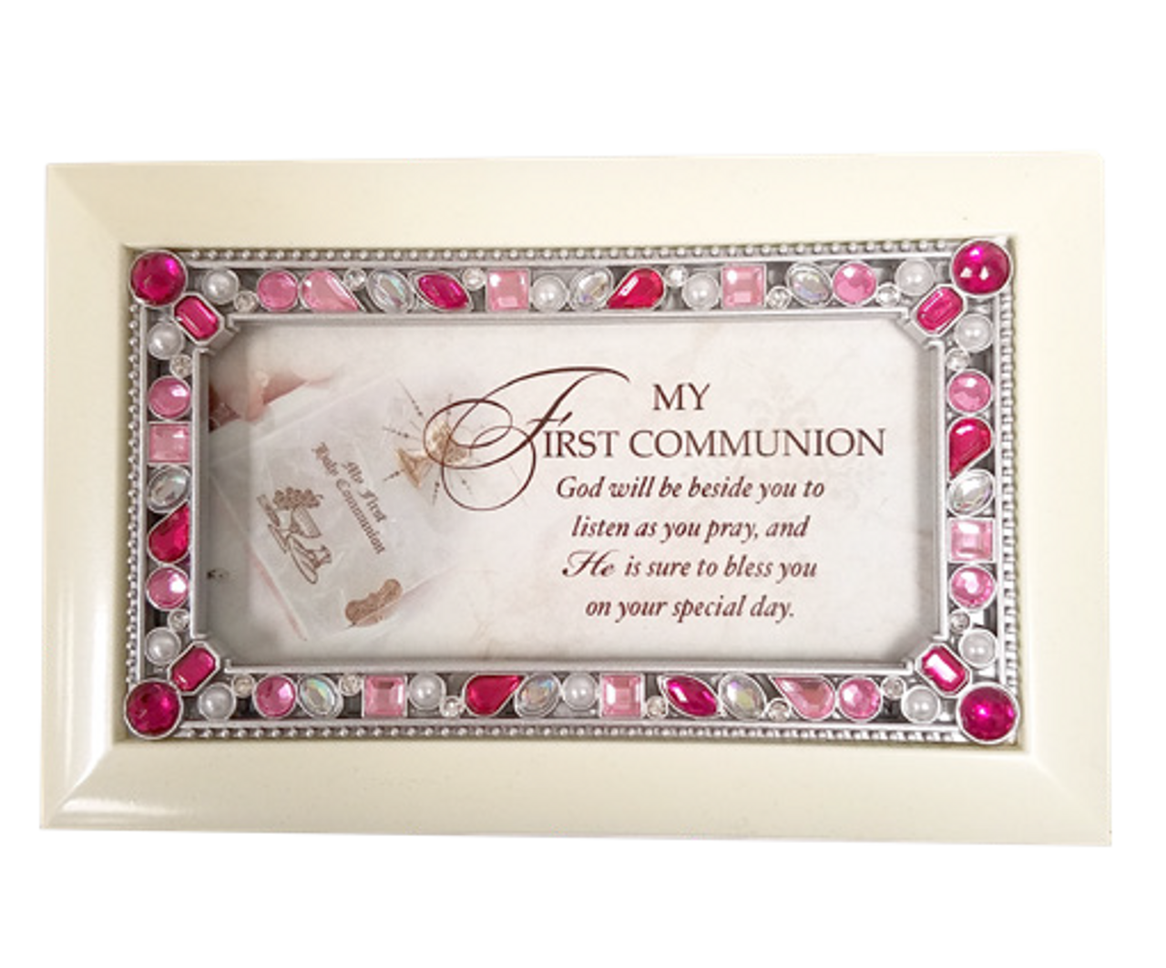 Home Home Dcor First Communion Girl Fincher Petite Jeweled Ivory ...