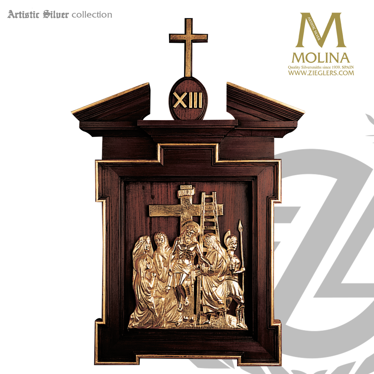 8b90d9f01a3064 stations of the cross set of 14 metal scenes with wood frames measure 47 x  26