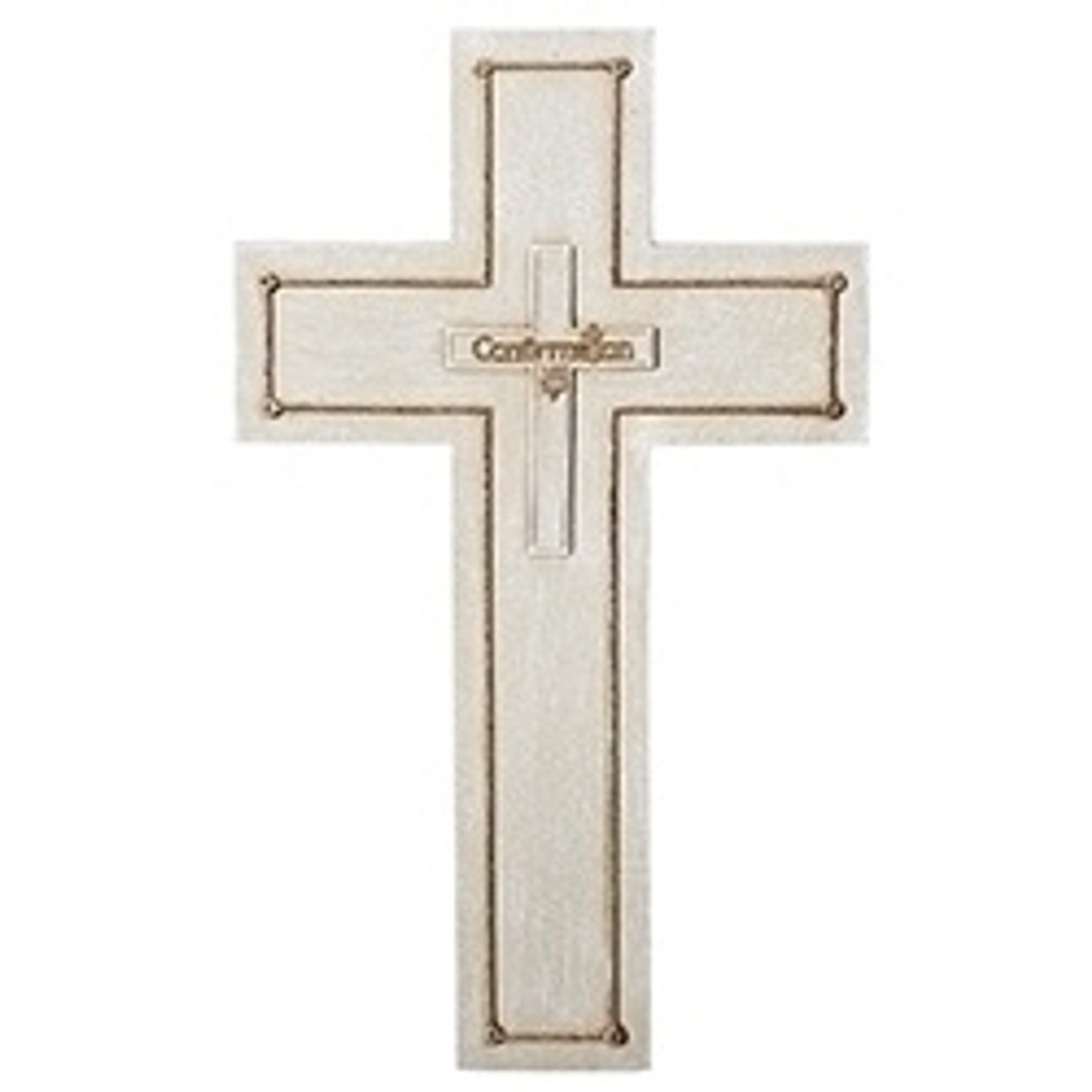 5 Inch Gold Toned Confirmation Wall Cross