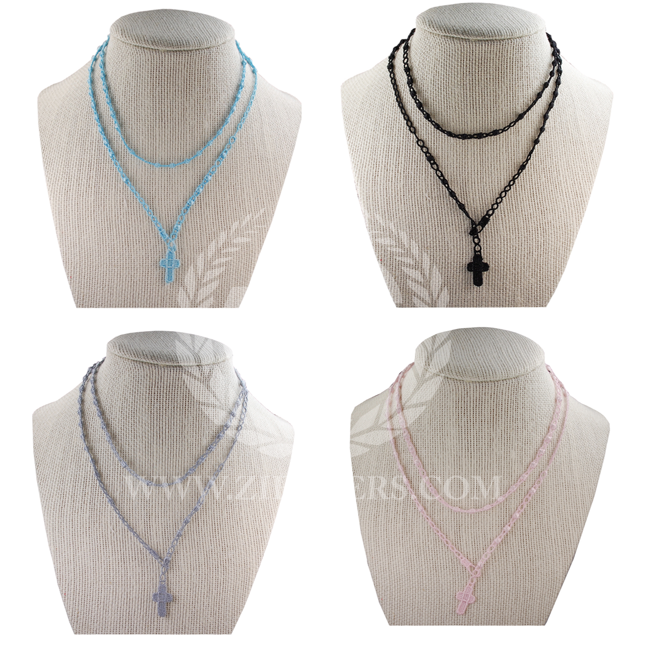 8544e6e20 Rosary Jewelry   Macramé Style Knotted Cord   Necklace or Bracelet   4  Colors   BR8 - F.C. Ziegler Company