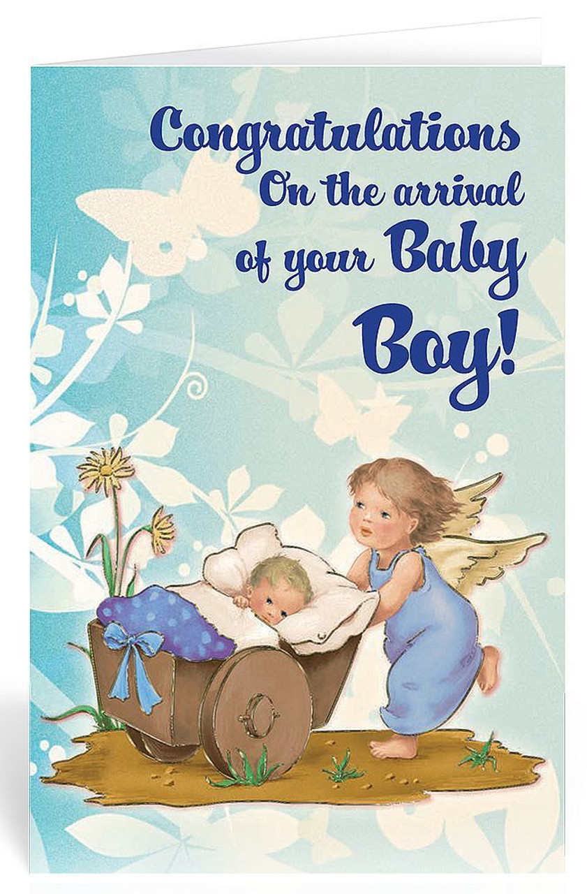 New Baby Greeting Card | Congratulations | Guardian Angel ...