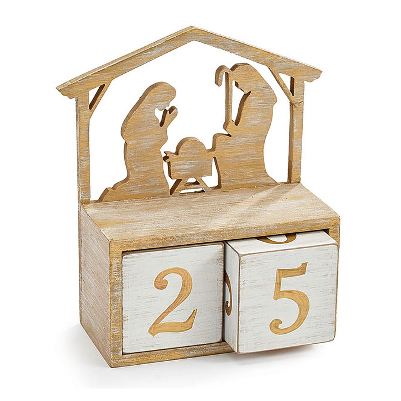 Nativity Advent Block Calendar Laser Cut Design Wood 1851233