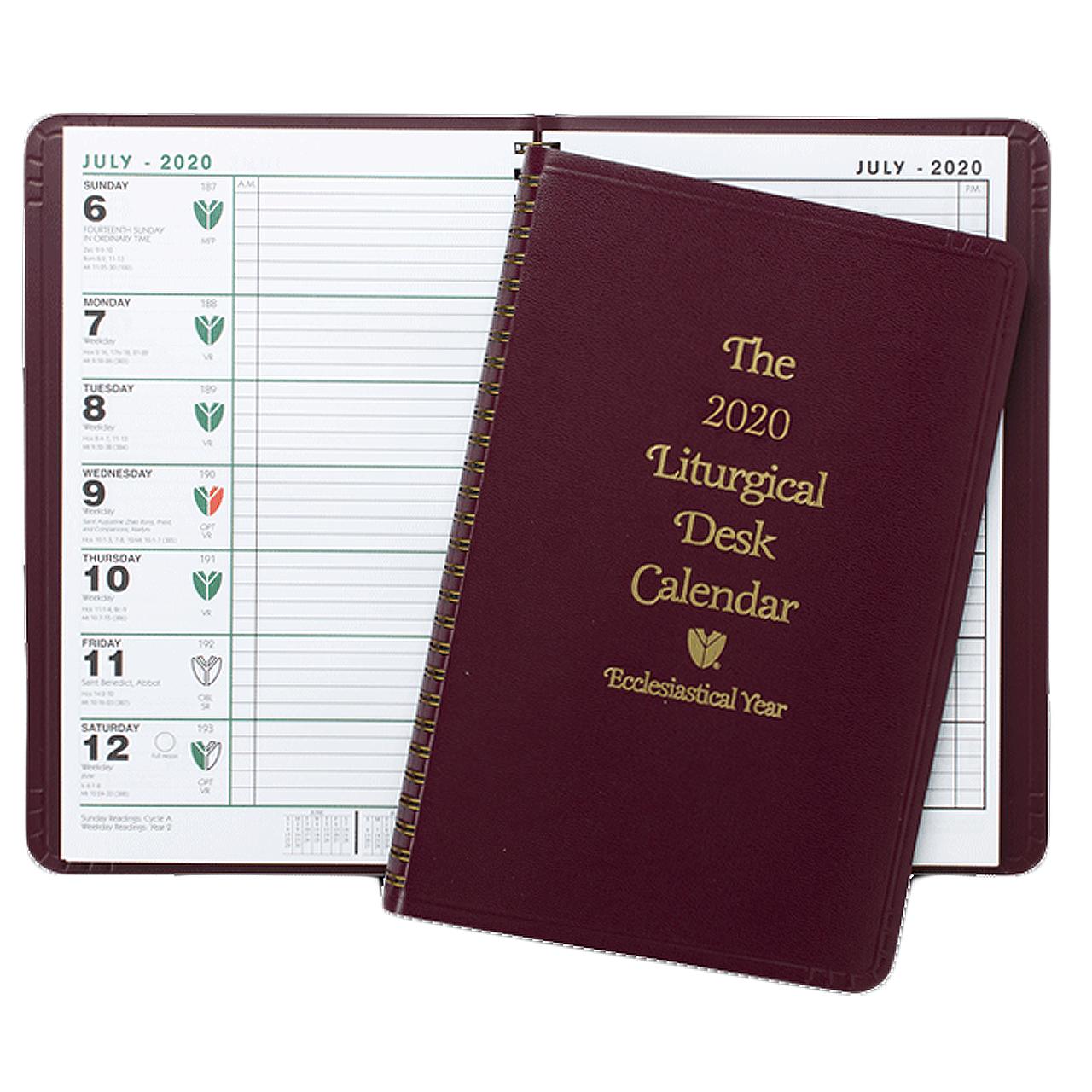 2020 Liturgical Desk Calendar 2020   Liturgical Desk Calendar   Ecclesiastical   Spiral Bound