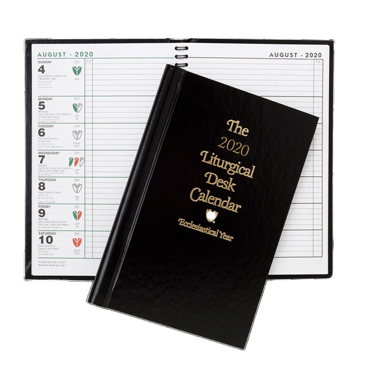 2020 Liturgical Desk Calendar 2020 Liturgical Desk Calendar   Ecclesiastical Year   Hardcover