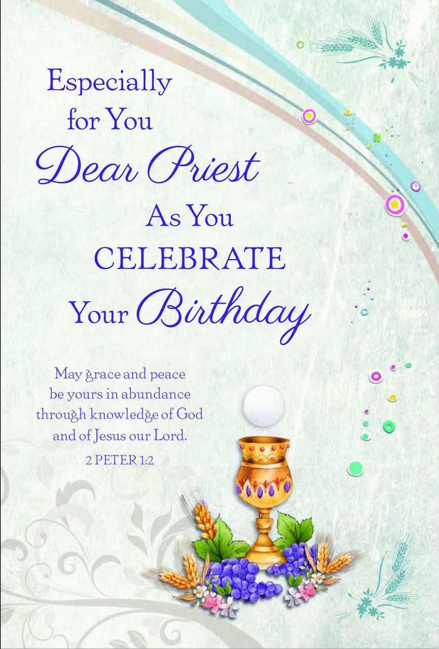 Birthday Greeting Card For Priest Reads Especially You Dear With Image Of Blessed Sacrament