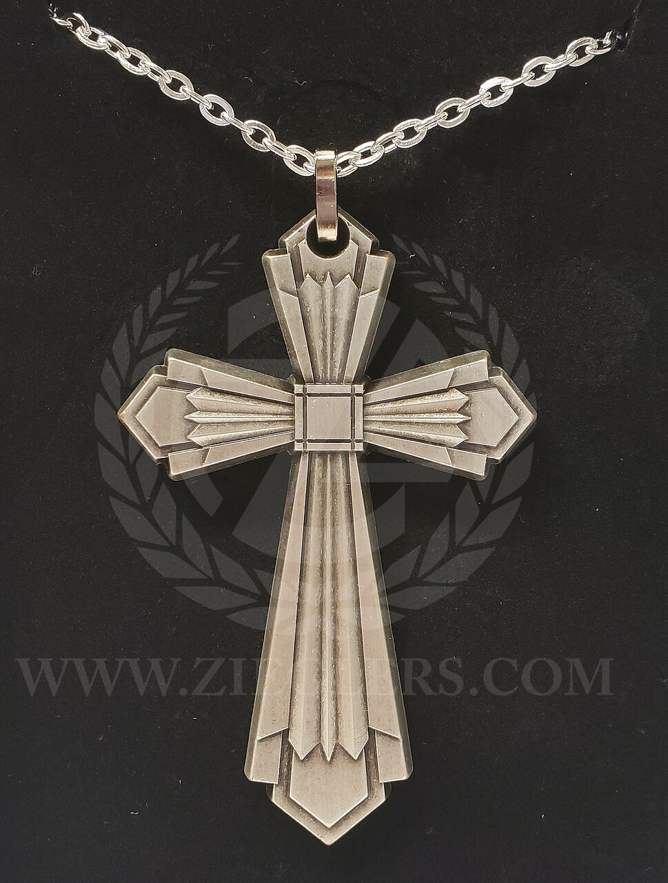 350b2ae4612 Pectoral Cross made of metal with silver plate measures 3 by two inches  comes on 31