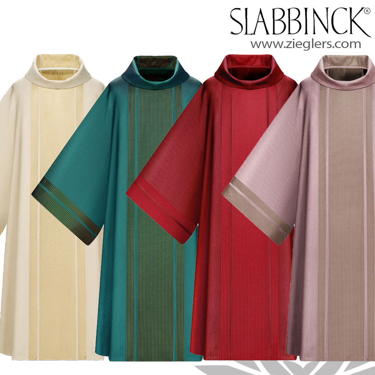 Dalmatic | Tone on Tone | 5 Colors | Polyester | Roll Collar | Slabbinck |  75175