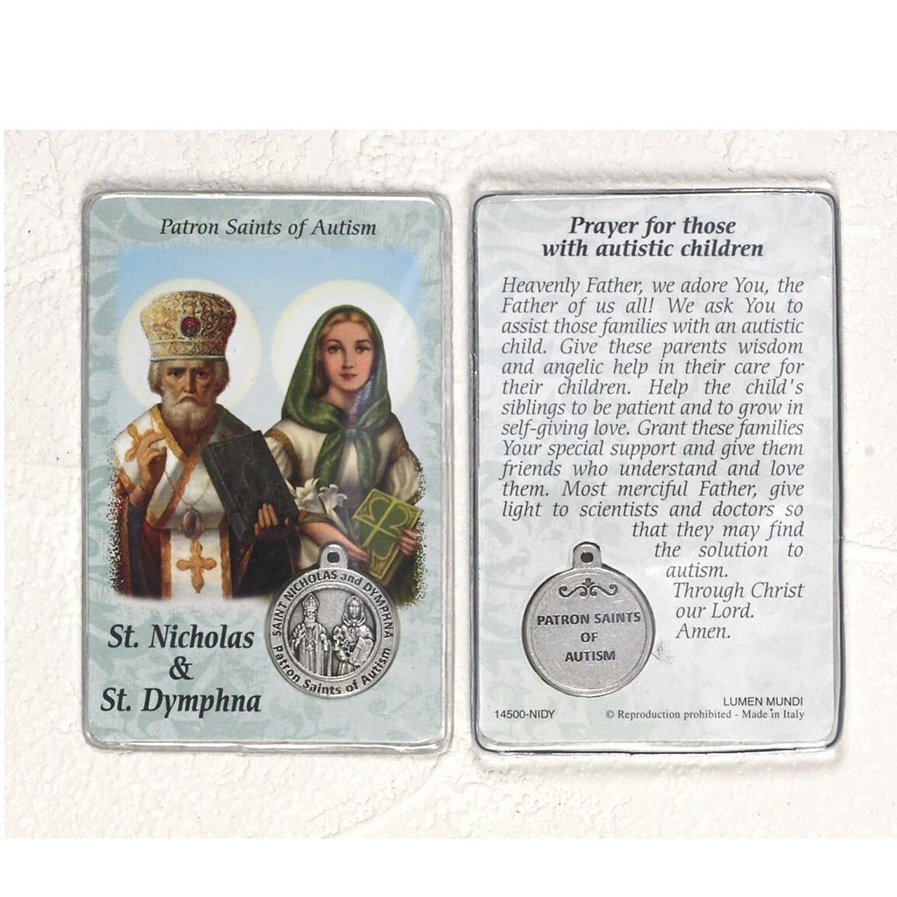 SAINT PATRICK PRAYER CARD WITH COLOUR MEDAL STATUES CANDLES PICTURES ALSO LISTED