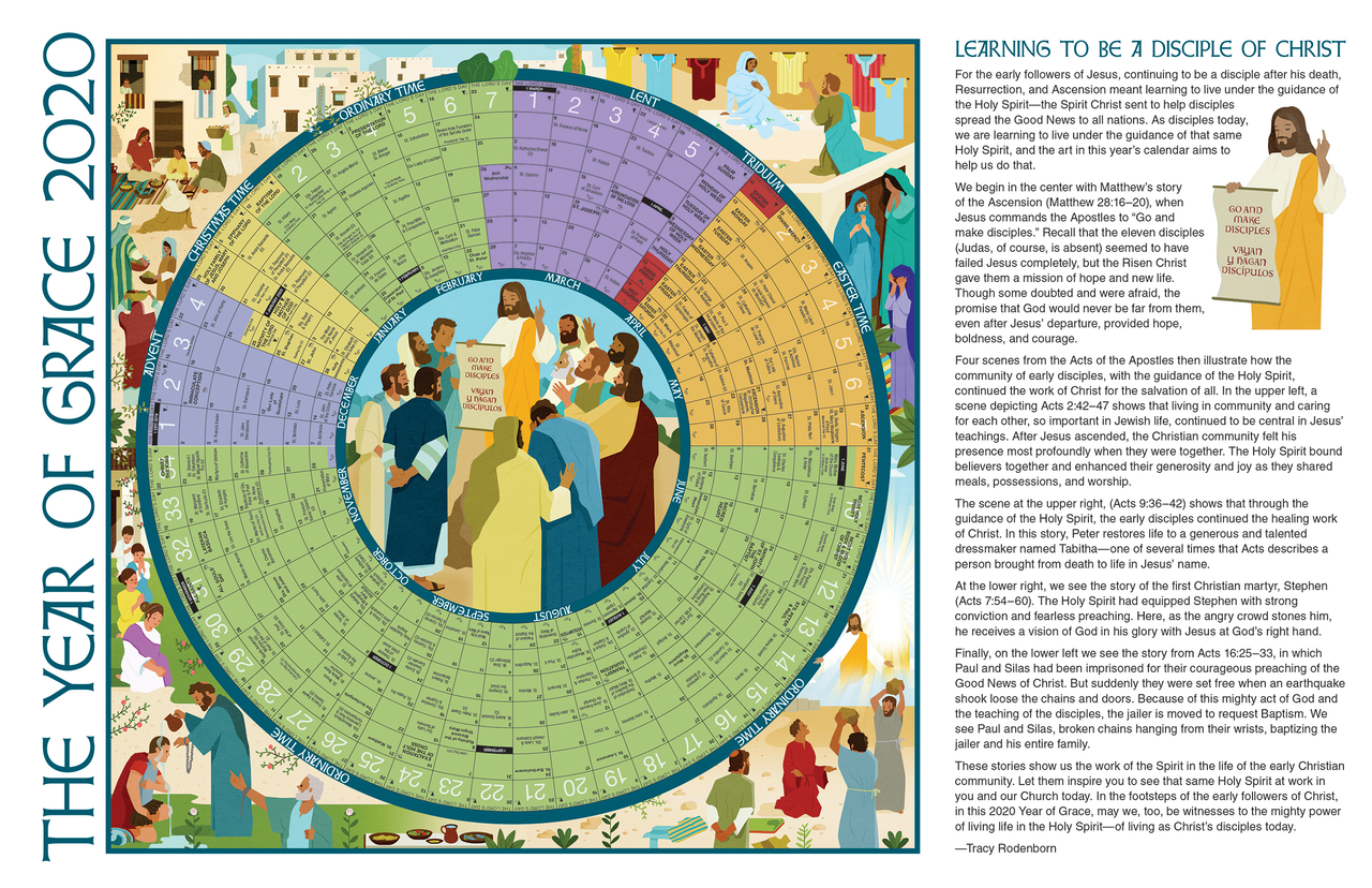 2020 Year of Grace Liturgical Calendar | Small | 25 Per Package