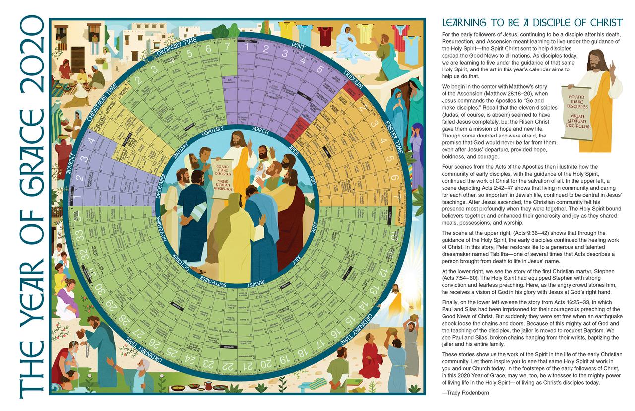 2020 Liturgical Calendar 2020 Year of Grace Liturgical Calendar | Poster | Small