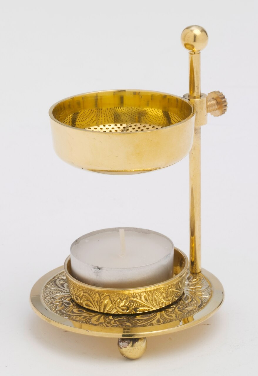 Incense Burner Adjustable Brass High Polish 4 1 4 F C Ziegler Company