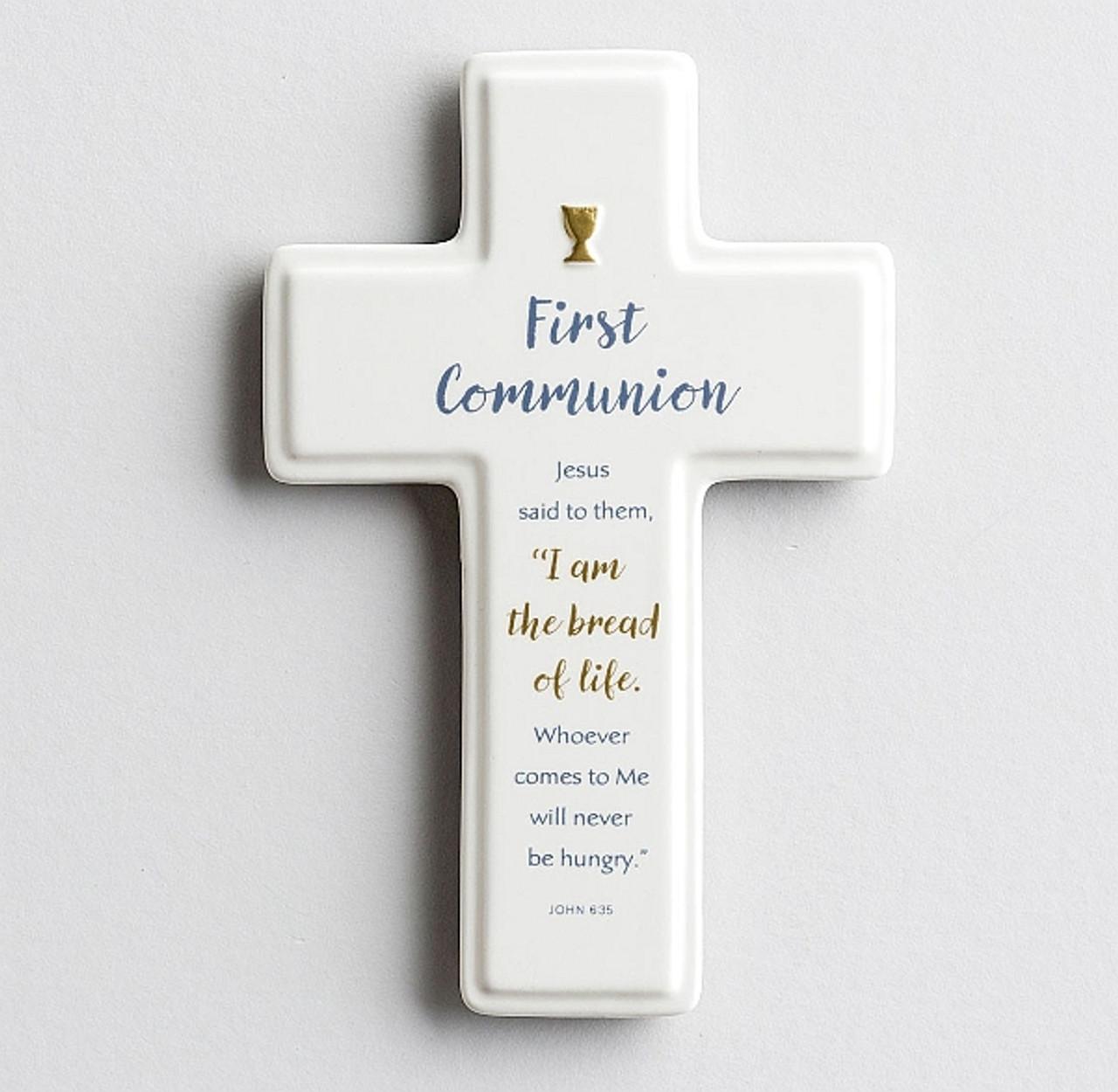 FAITH Ceramic Cross Keepsake Handheld