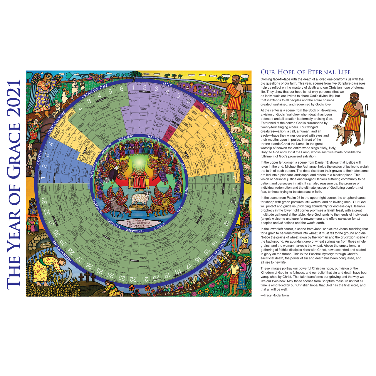 2022 Lectionary Calendar.2021 Year Of Grace Liturgical Calendar Small 25 Per Package 11 X 17 Yg21sp F C Ziegler Company
