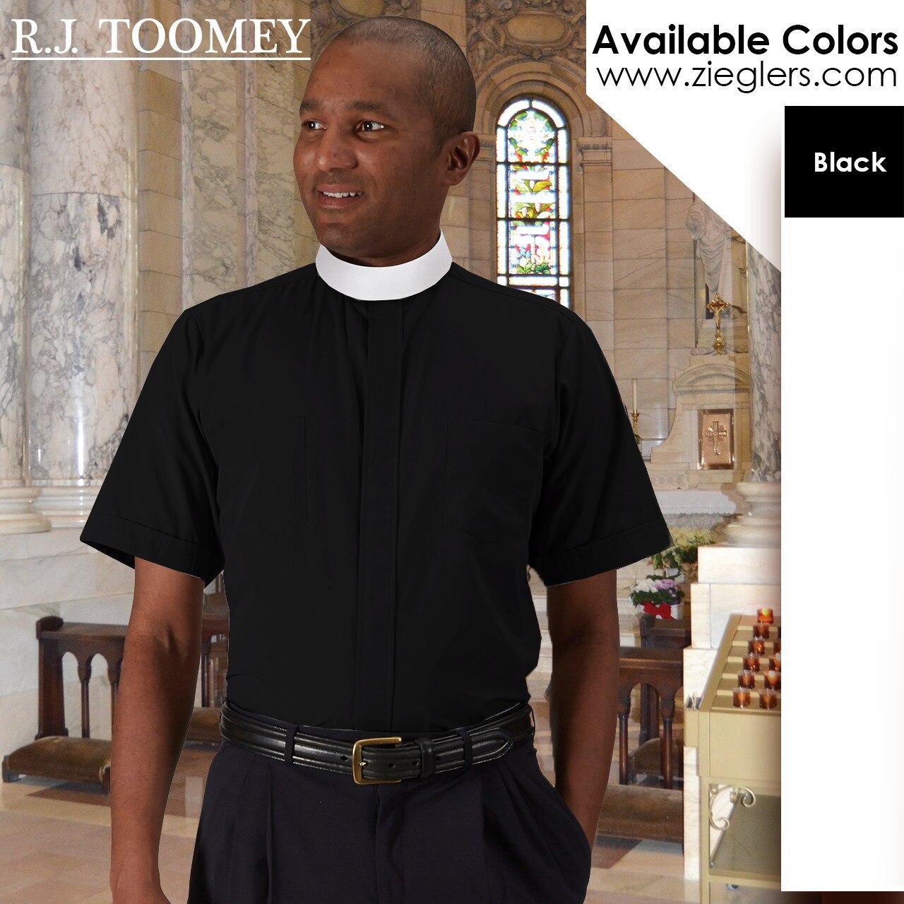 e13f7eb059 Clergy Shirt | Neckband Collar | Short Sleeve | Toomey