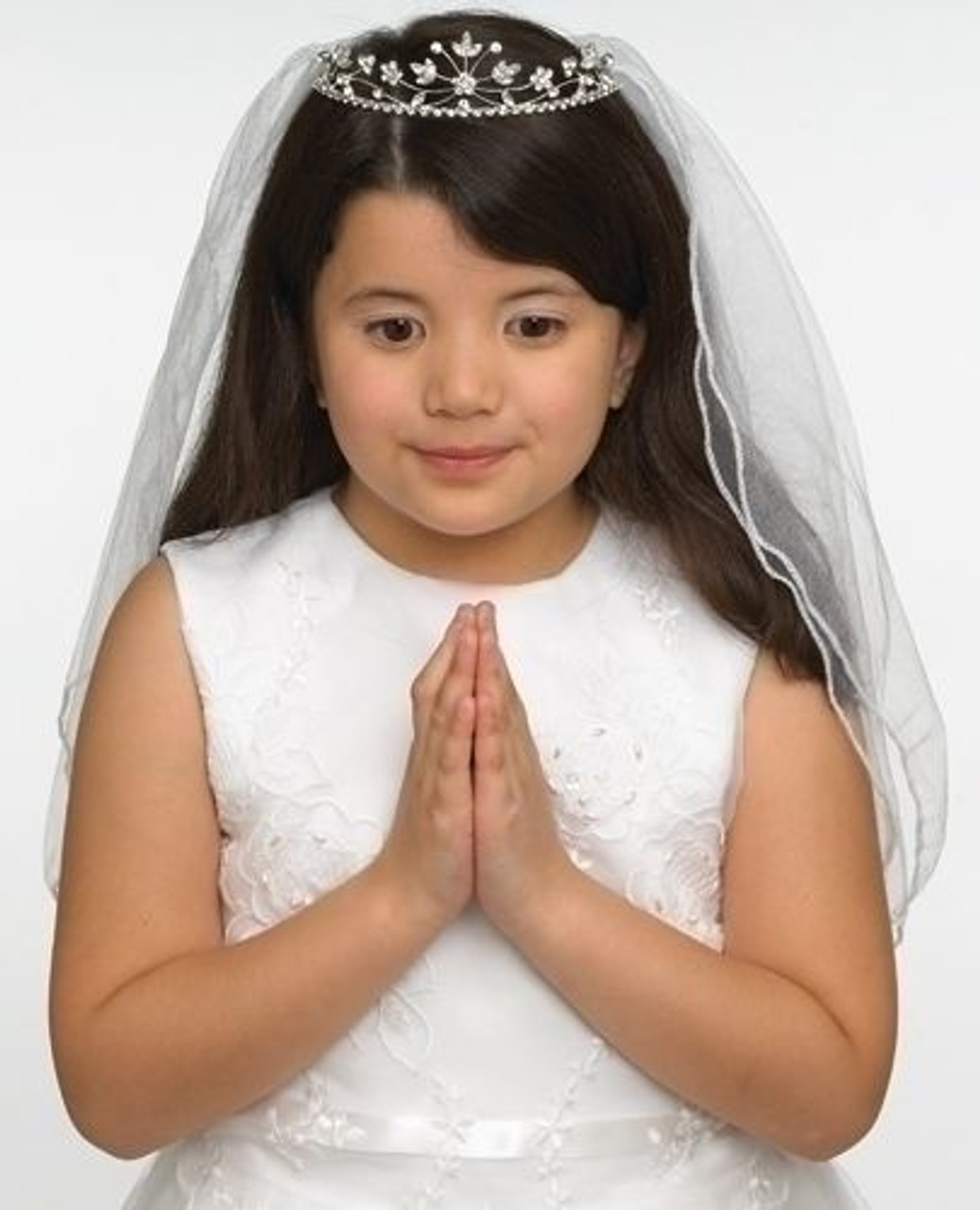 Girls First Communion// Christening Virgin Mary Tiara with Veil